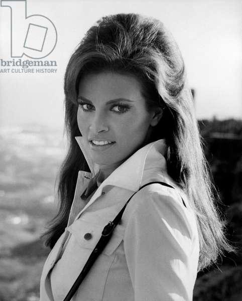 Portrait of Raquel Welch, 1960s (b/w photo)