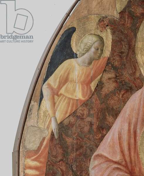 Virgin and Child with Saint Anne (Sant'Anna Metterza), by Tommaso di ser Giovanni di Mone Cassai knows as Masaccio and Tommaso di Cristoforo Fini knows as Masolino da Panicale, 1424-1425, 15th Century, tempera on panel, 175 x 103 cm