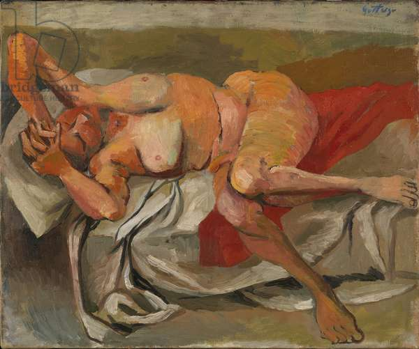 Small Naked Lying (Piccola nuda sdraiata), by Renato Guttuso, c. 1940, 20th Century, oil on canvas, 46 x 55 cm