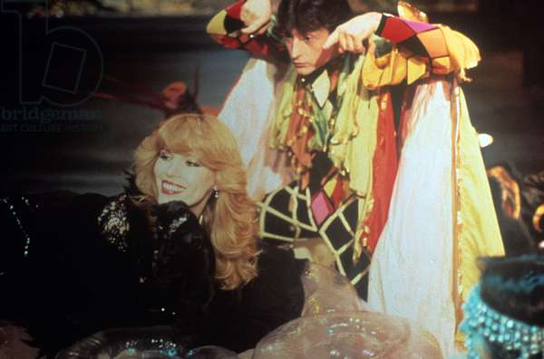 Amanda Lear in a TV show, Italy, 1979 (photo)