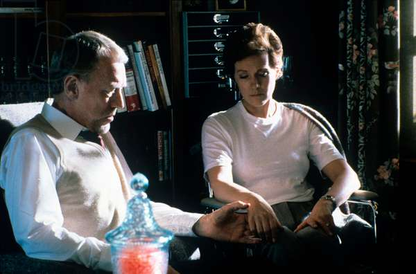 Max Von Sydow consoles a sad Julie Andrews by taking her hand