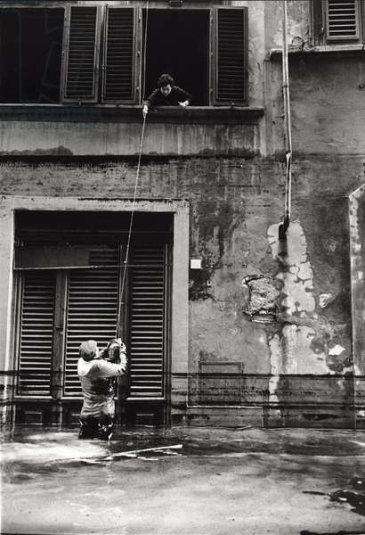 The flood in Florence, Florence, Italy, 1966