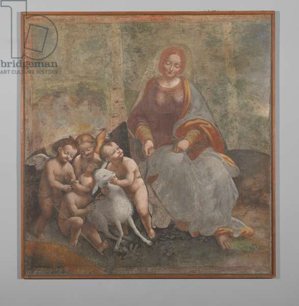 Madonna with Child with Young John the Baptist and two Angels (fresco transferred on canvas)