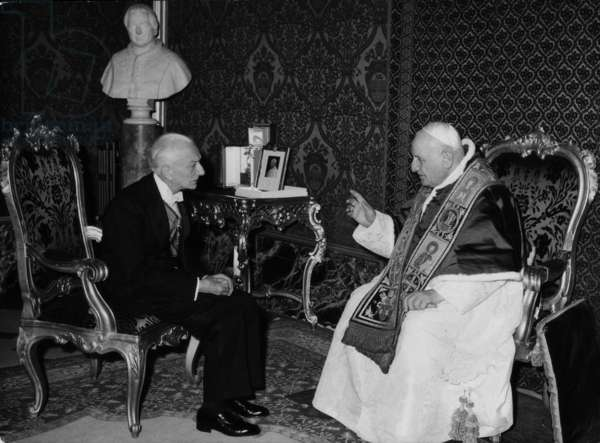 Pope John XXIII meeting Antonio Segni