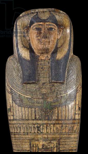 Sarcophagus of Tesbastetperet, Egyptian Art, 664 - 525 b.C., 7th - 6th Century b.C., Plastered and painted wood