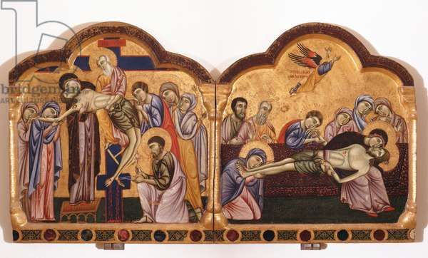 The Deposition of Christ from the Cross and the Mourning on Christ Dead, 13th century (tempera on board)