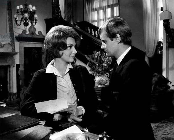 Sylva Koscina and David MacCallum in 'Three Bites of the Apple', 1966 (b/w photo)