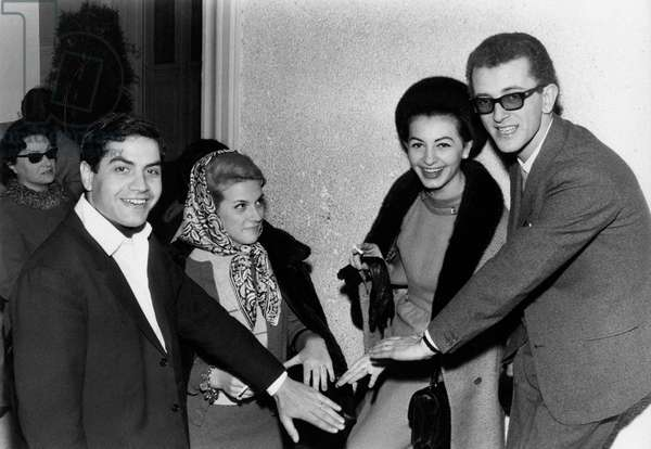John Foster, Fred Bongusto and Betty Curtis at the 15th Sanremo Music Festival