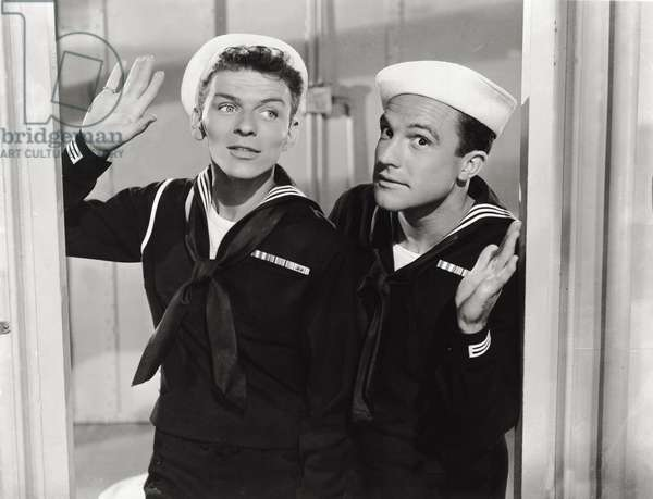 Gene Kelly and Frank Sinatra in 'Anchors Aweigh', 1945 (b/w photo)