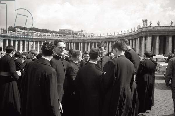 Some priests in St. Peter's Square