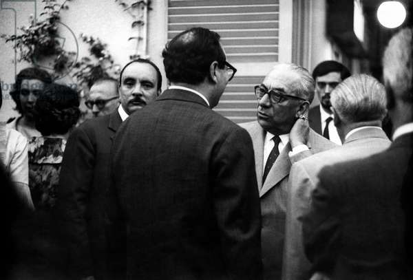 Elio Filippo Accrocca and Arnoldo Mondadori at the Strega Prize, Rome, Italy