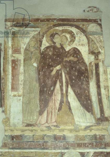 Visitation, by Unknown Artist, 11th Century, fresco