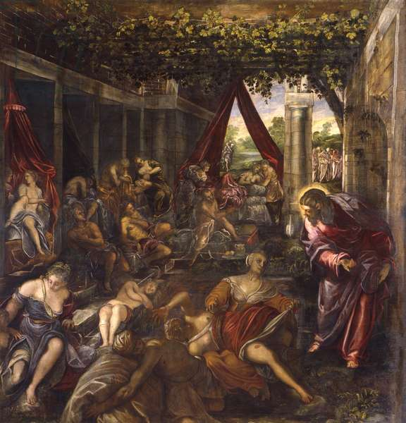 Christ healing the paralytic (Cristo risana il paralitico), by Jacopo Robusti known as Tintoretto, 1579, 16th century, oil on canvas.
