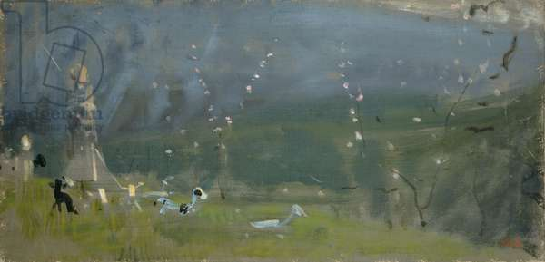 Flock and Shepherds, 1900 (oil on canvas)