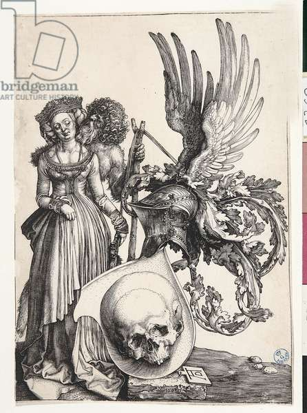 The Insignia of Death, by Albrecht Durer, 1503, 16th Century (burin engraving)