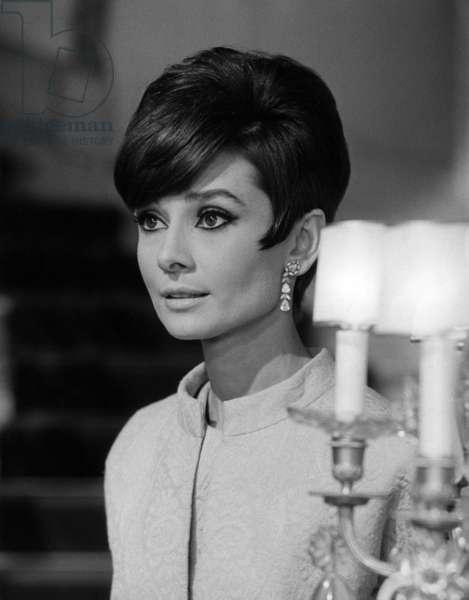 Portrait of Audrey Hepburn, 1965 (b/w photo)