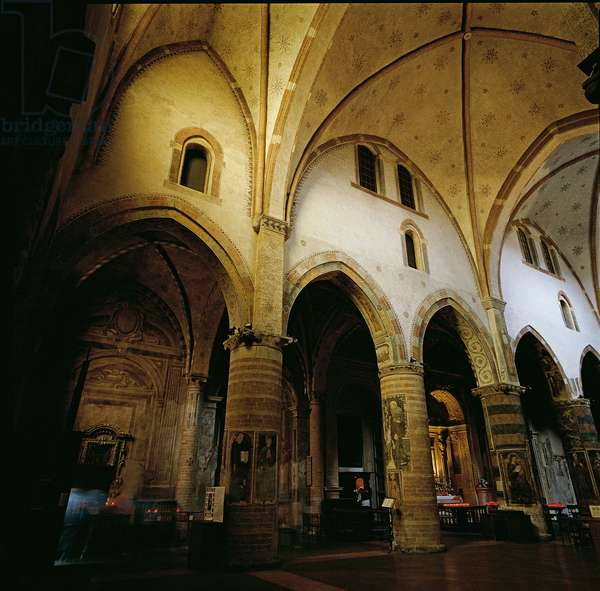 Church of Saint Francis in Lodi (Chiesa di San Francesco a Lodi), 13th Century, brickwork, fresco