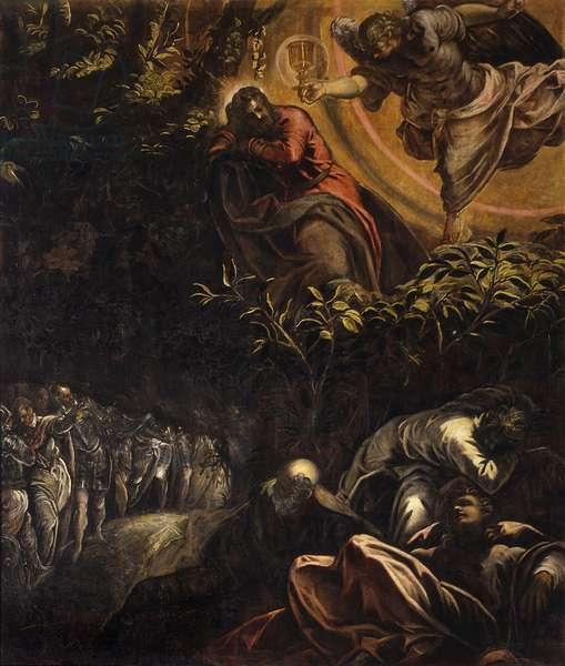 Agony in the Garden (Orazione nell'orto), by Jacopo Robusti known as Tintoretto, 1579-1581, 16th century, oil on canvas, 538 x 455 cm.