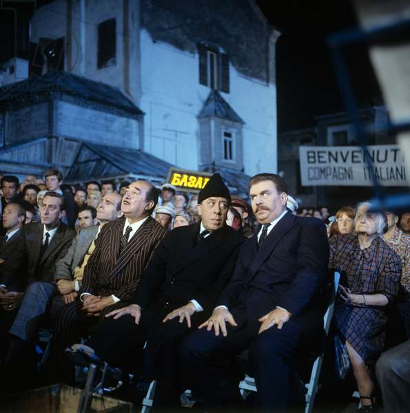 Saro Urzi, Fernandel and Gino Cervi in Don Camillo in Moscow (photo)