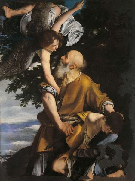 Binding of Isaac (Il sacrificio di Isacco), by Orazio Gentileschi, 1621-1624, 17th Century, oli on canvas