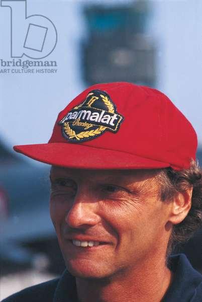 Niki Lauda smiling