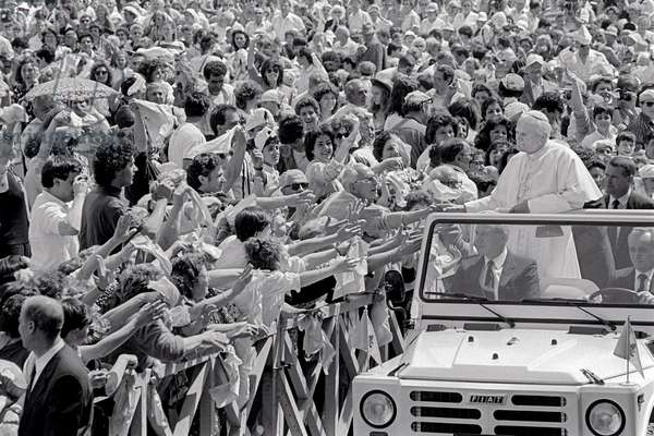 Pope John Paul II in St. Peter's Square, Vatican City, Vatican City State