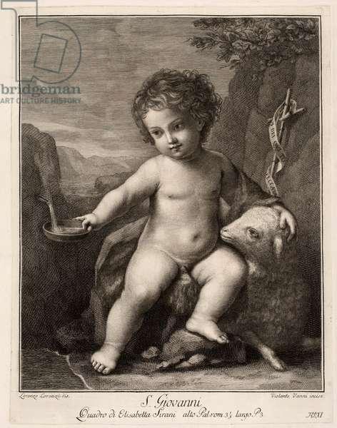 Infant Saint John, 17th century (engraving)