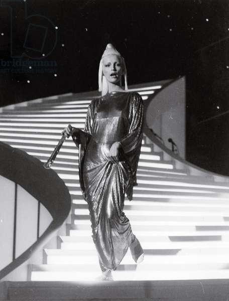 Patty Pravo singing Per una bambola at the 34th Sanremo Music Festival