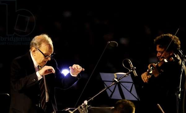 Ennio Morricone in concert, Vatican, 2016 (photo)