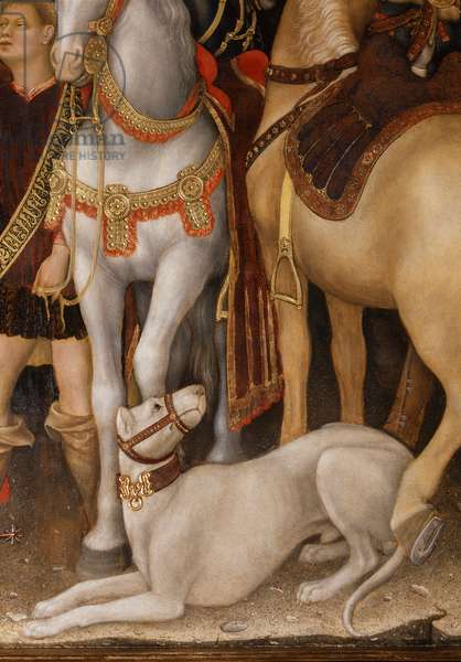 Adoration of the Magi detail of horses, 1423 (tempera on panel)