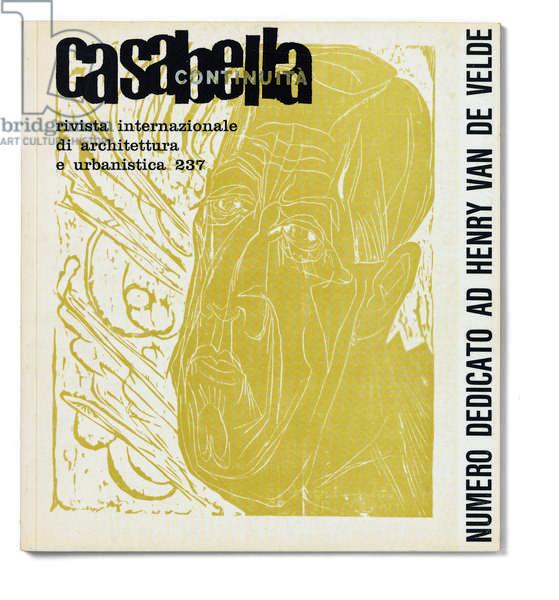 Casabella, No. 237, March 1960, 20th century, Arnoldo Mondadori Editore, Milan, 28 x 31 cm.