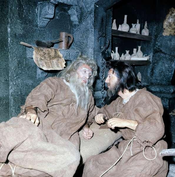Antonio Virgilio Savona and Walter Chiari in The Count of Monte Cristo, Italy