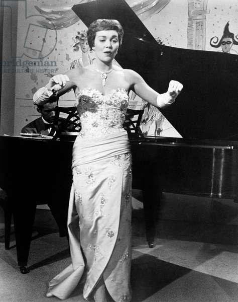 Jane Wyman is dancing
