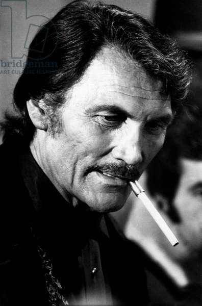 Jack Palance in close-up
