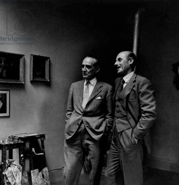 Achille Mario Dogliotti and Gregorio Carlo Calvi di Bergolo smiling, Italy
