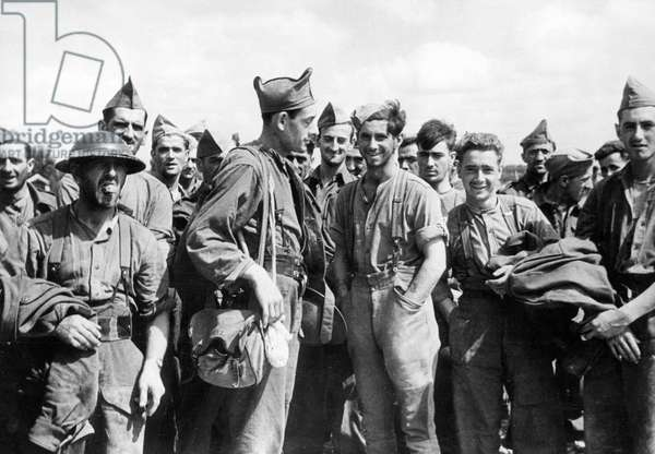 British and Canadian soldiers taken prisoner, Dieppe, France
