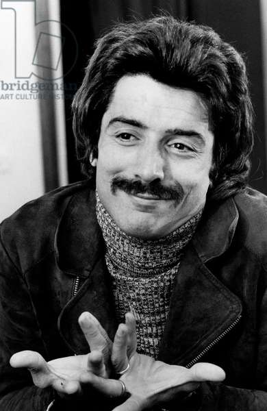 Don Backy with a funny expression and an unusual pair of moustache