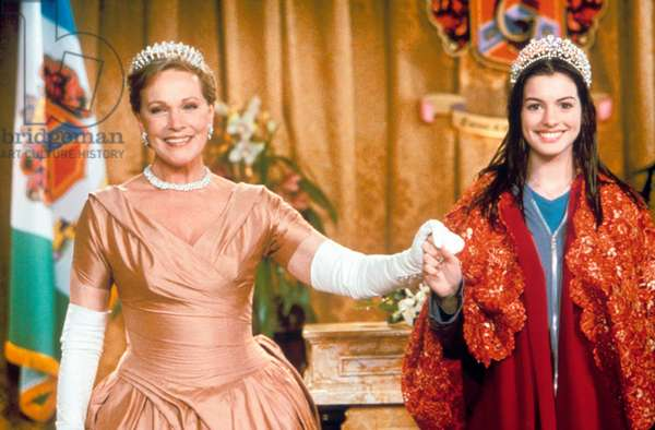 Julie Andrews and Anne Hathaway in costume