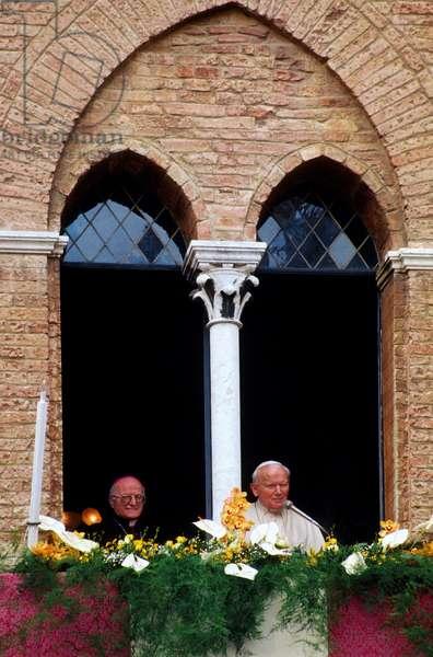 Pope John Paul II and Gaetano Bonicelli, Siena, Italy