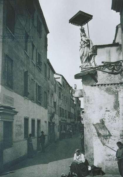 View of Salizzada San Giustina (b/w photo)