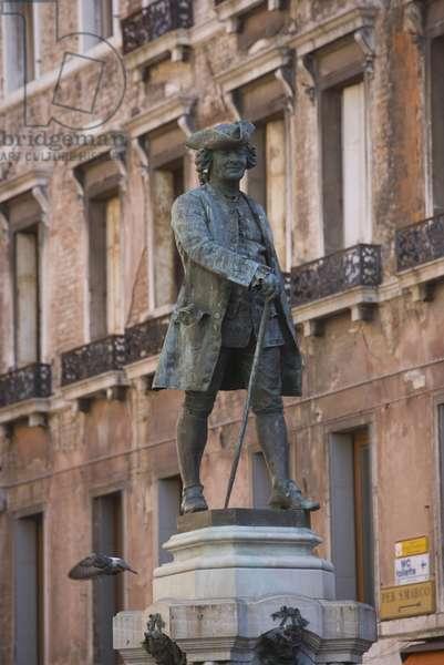 Campo San Bartolomeo with Monument to Carlo Osvaldo Goldoni, Venice (bronze)