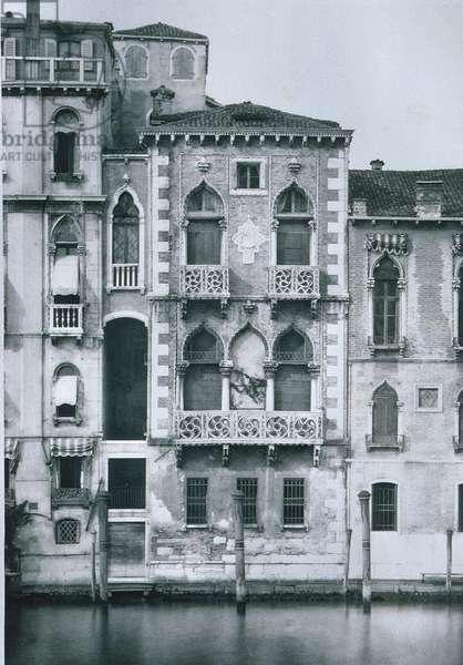 Palazzo Contarini Fasan (b/w photo)