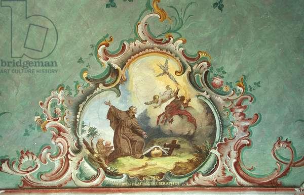 Mural of St. Francis Receiving the Stigmata (photo)