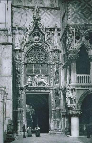 The Porta della Carta (b/w photo)
