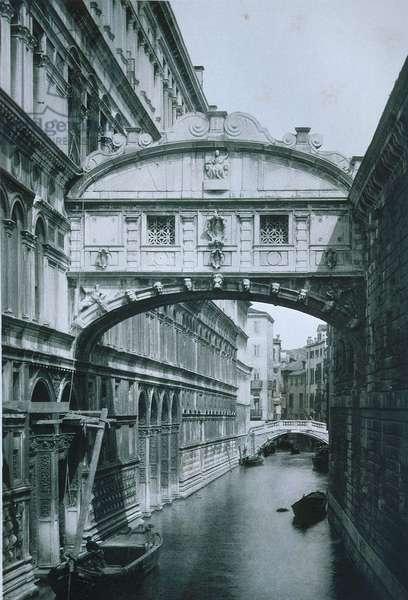 Bridge of Sighs (b/w photo)