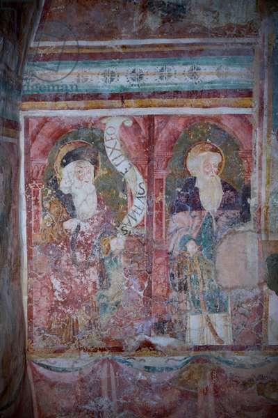 Saint Elias of Jerusalem and Saint Anthony Abbot (fresco)