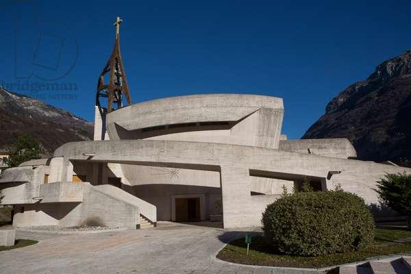 Santa Maria Immacolata church, by Giovanni Michelucci, Longarone, Veneto, Italy