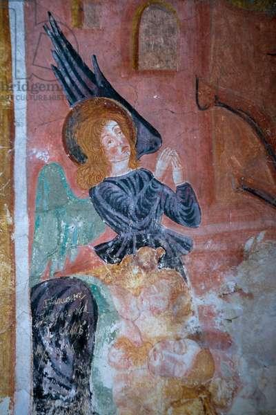 Detail of an angel (fresco)