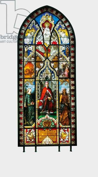Dantesque Glass Window, 1851 (stained glass)