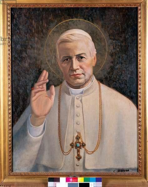 Portrait of Pope Pius X, 1954 (oil on panel)